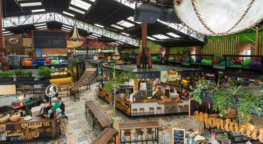 Bohemisk och lyxig matmarknad i Medellín